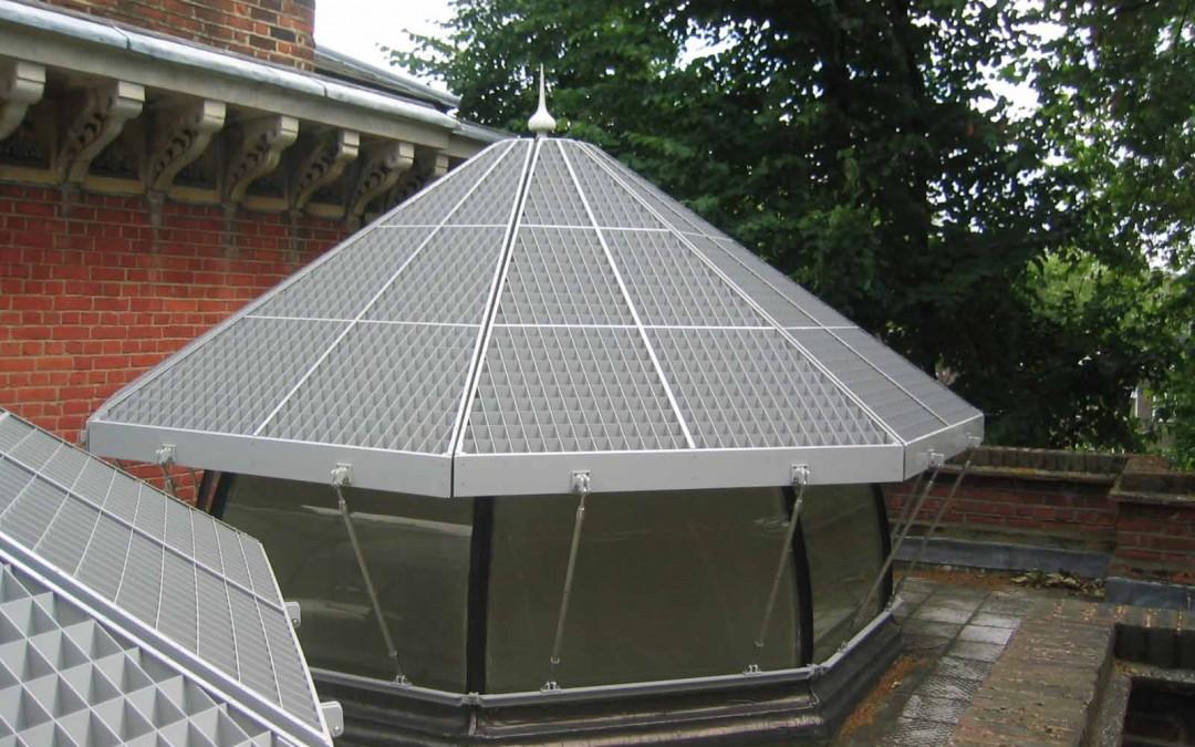 Leighton House – Domed Skylight Sun Louvres
